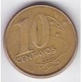 10 сентаво. 2002 г. Бразилия. 1-6-209