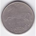 1 крона. 1966 г. Норвегия. 1-6-271