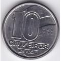 10 крузейро. 1991 г. Бразилия. 2-1-328