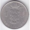 1 франк. 1967 г. Бельгия (на французском). 2-1-427