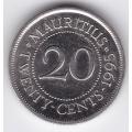 20 центов. 1995 г. Маврикий. 2-1-462