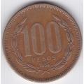 100 песо. 1995 г. Чили. 2-1-485
