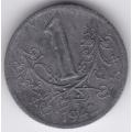 1 крона. 1942 г. Богемия и Моравия. 4-4-363