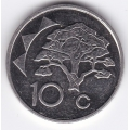 10 центов. 2002 г. Намибия. 2-3-406