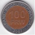 100 франков. 2007 г. Руанда. 2-4-375б