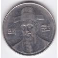 100 вон. 2002 г. Южная Корея. Ли Сун Син. 2-4-444