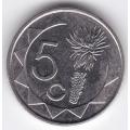 5 центов. 2007 г. Намибия. 2-4-461