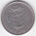 1 франк. 1967 г. Бельгия (на фламандском). 2-5-8Б