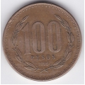 100 песо. 1996 г. Чили. 2-5-417