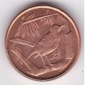 1 цент. 1999 г. Каймановы острова. Кайманский сизый дрозд. 2-5-505