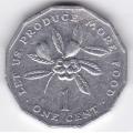 1 цент. 1983 г. Ямайка. 3-1-83
