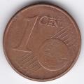 """1 евроцент. 2002 г. Германия. """"J"""". 19-2-227"""