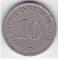 "10 пфеннигов. 1907 г. Германия. ""A"". 3-2-48"
