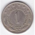 1 динар. 1974 г. Югославия. 3-2-334