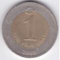 1 новая лира. 2005 г. Турция. 3-3-462