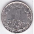 1 динар. 1965 г. Югославия. 3-3-538