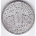 1 франк. 1942 г. Франция. Для правительства Виши. 3-3-546