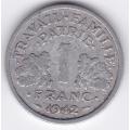 1 франк. 1942 г. Франция. Для правительства Виши. 3-3-548