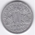 1 франк. 1943 г. Франция. Для правительства Виши. 3-3-556