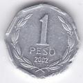 1 песо. 2002 г. Чили. 3-4-252
