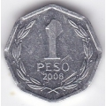 1 песо. 2008 г. Чили. 3-4-254