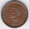 1 рупия. 2003 г. Пакистан. Мухаммед Али Джиннах. 3-4-508