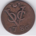 1 дуит. 1786 г. Нидерландская Индия. 3-4-617