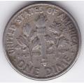"""1 дайм (10 центов). 1990 г. """"D"""". США. 3-4-633"""