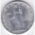 10 лир. 1951 г. Ватикан. 14-2-235