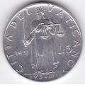 5 лир. 1951 г. Ватикан. 14-2-236