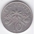 10 центов. 1986 г. Сингапур. 3-5-209