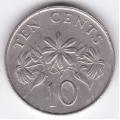 10 центов. 1987 г. Сингапур. 3-5-210