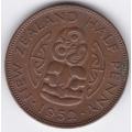 1/2 пенни. 1952 г. Новая Зеландия. 3-5-244