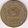 1 песо. 1992 г. Доминиканская Республика. 10-1-186