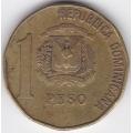 1 песо. 1992 г. Доминиканская Республика. 10-1-192