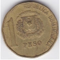 1 песо. 1993 г. Доминиканская Республика. 10-1-193