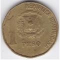 1 песо. 1992 г. Доминиканская Республика. 10-1-194