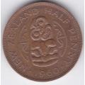 1/2 пенни. 1960 г. Новая Зеландия. 10-2-179