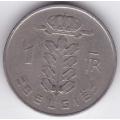 1 франк. 1951 г. Бельгия (на фламандском). 10-2-266