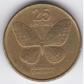25 сентимо. 1983 г. Филиппины. Бабочка. 10-3-399