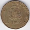 1 песо. 1993 г. Доминиканская Республика. 10-3-522