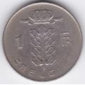 1 франк. 1976 г. Бельгия. (на фламандском). 10-3-530