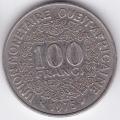 100 франков. 1975 г. Западная Африка. 10-3-565