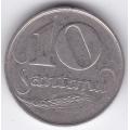 10 сантимов. 1922 г. Латвия. 10-3-632