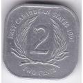 2 цента. 1991 г. Карибские острова. 10-4-85