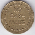 "Жетон ""NO CASH VALUE"". 10-4-584"