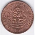 1/2 пенни. 1961 г. Новая Зеландия. 5-1-132