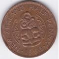 1/2 пенни. 1960 г. Новая Зеландия. 5-1-141