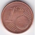 """1 евроцент. 2011 г. Германия. """"A"""". 5-1-257"""
