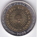 1 песо. 2009 г. Аргентина. 5-1-274
